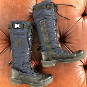 Tommy Hilfiger Boots Preppy Lace Up Combat Tall 39